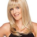 billige Lågløs-Human Hair Capless Parykker Menneskehår Lige Stil Lågløs Paryk / Ret