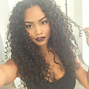 cheap Human Hair Wigs-Human Hair Lace Front Wig Wavy Wig 120% Ombre Hair / Natural Hairline / African American Wig Women's Medium Length Human Hair Lace Wig / 100% Hand Tied