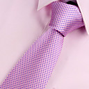 cheap Totes-Men's Party / Work / Basic Polyester Necktie - Solid Colored / Pink