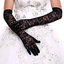 cheap Party Headpieces-Lace / Polyester Opera Length Glove Classical / Bridal Gloves / Party / Evening Gloves With Solid