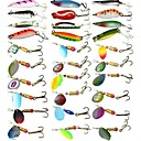 cheap Fishing Lures & Flies-30 pcs Fishing Lures Hard Bait Spoons Metal Bait Hard Plastic Fast Sinking Sea Fishing Bait Casting Carp Fishing / Lure Fishing / General Fishing / Trolling & Boat Fishing