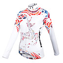 cheap Jewelry Sets-ILPALADINO Women's Long Sleeve Cycling Jersey - White Floral / Botanical Bike Jersey, Quick Dry, Breathable