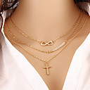 cheap Necklaces-Women's Layered Necklace - Infinity Fashion Gold Necklace For Special Occasion, Birthday, Gift