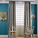 cheap Luxury Curtains-Blackout Curtains Drapes Bedroom Poly / Cotton Blend Print