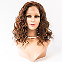billige Lysekroner-Menneskehår Blonde Front Paryk Bølget Paryk 120% Hår Densitet Ombre-hår Natural Hairline Afro-amerikansk paryk Dame Medium Længde Blondeparykker af menneskehår / 100 % håndbundet