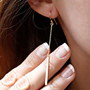 baratos Anéis-Mulheres Franjas Brincos Compridos - Estilo simples, Fashion Dourado / Prata Para