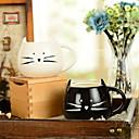 """זול כלי שתייה-300ml שחור ולבן חתול חמוד חתול ספל מים יצירתי (5.1 """"x4.3"""" x3.7 """")"""