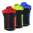 cheap LED Spot Lights-Arsuxeo Men's Cycling Vest Bike Vest / Gilet / Jacket / Windbreaker Quick Dry, Windproof, Breathable Patchwork, Classic, Slim Black / Red / Black / Green / Black / Blue Bike Wear / Stretchy