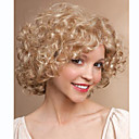 cheap Synthetic Capless Wigs-Synthetic Wig Curly Blonde Synthetic Hair Blonde Wig Women's Short Capless