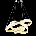 cheap Chandeliers-Round LED Pendant Lights Modern Acrylic Lamps Lighting Luxurious Three Rings Ceiling Lights Fixtures 406080