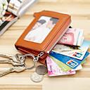 preiswerte Brieftaschen-Damen Taschen Leder Bankkarten & Ausweis Tasche / Schlüsselanhänger / Geldbörse Reißverschluss Fuchsia / Braun / Blau