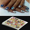 preiswerte Hohler Nagelaufkleber-4 pcs 3D Nails Nagelaufkleber Nail Schmuck Nagel Kunst Maniküre Pediküre Punk / Modisch Alltag / PVC / Nagelschmuck / 3D Nagel Sticker
