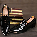 זול נעלי ספורט לגברים-בגדי ריקוד גברים נעליים פורמליות דמוי עור אביב / סתיו נוחות נעלי אוקספורד מונע החלקה שחור / צהוב / אדום / חתונה / מסיבה וערב