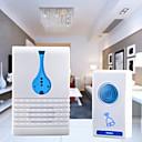 tanie Systemy kontroli dostępu i rejestracji czasu pracy-Melodia bezprzewodowy nadajnik + odbiornik zdalnego sterowania ustawić dzwonek do drzwi - biały + niebieski