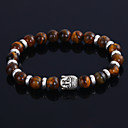 cheap Religious Jewelry-Men's Agate / Black Lava Beads Strand Bracelet / Mala Beads Bracelet - Personalized, Fashion Bracelet Black / Brown / Blue For Wedding / Party / Gift