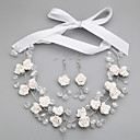 cheap Jewelry Sets-Women's Crystal Jewelry Set - Include White For Wedding / Party / Special Occasion / Anniversary / Engagement / Gift