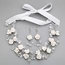 preiswerte Schmuck Sets-Damen Weiß Kristall Schmuck-Set - Einschließen Weiß Für Hochzeit Party Besondere Anlässe / Jahrestag / Verlobung / Geschenk