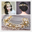 cheap Party Headpieces-Tulle Lace Alloy Headbands Flowers Wreaths Head Chain Headpiece
