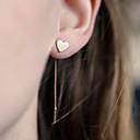 cheap Earrings-Women's Tassel Drop Earrings - Heart, Love European, Simple Style Silver / Golden For Daily / Casual