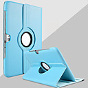 billige Stativer og holdere-Etui Til Samsung Galaxy Samsung Galaxy Note med stativ 360° rotasjon Heldekkende etui Helfarge PU Leather til Note 10.1