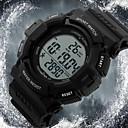 baratos Relógio Esportivo-SKMEI Homens Relógio Esportivo / Relógio de Pulso Alarme / Calendário / Cronógrafo Borracha Banda Preta / Impermeável / LCD / Dois anos / Maxell626