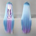 hesapli Lolita Perukları-Lolita Peruklar Sweet Lolita Mavi Lolita Peruklar 41 inç Cosplay Perukları Kırk Yama Peruk Cadılar Bayramı Peruk