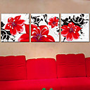 cheap Stretched Canvas Prints-Print Stretched Canvas Print - Botanical Three Panels