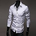 cheap Men's Bracelets-Men's Plus Size Cotton Shirt - Solid Colored
