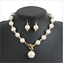 ieftine Cercei-Pentru femei Ștras / Imitație de Perle Set bijuterii - Altele Gri, Rosu, Vișiniu