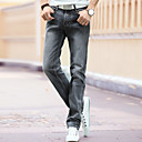 cheap Bluetooth Car Kit/Hands-free-Men's Punk & Gothic Cotton Straight Jeans Pants - Solid Colored