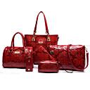 baratos Batons-Mulheres Bolsas PU Conjuntos de saco 6 Pcs Purse Set Bege / Vermelho / Azul