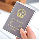 זול תיקי טיולים-יחידה 1 נרתיק לדרכון ותעודת זהות כיסוי דרכון עמיד למים עמיד לאבק קל במיוחד(UL) נייד ל אחסון לטיולים PVC