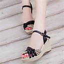 baratos Sandálias Femininas-Mulheres Sapatos Courino Verão Salto Plataforma Presilha Preto / Roxo / Azul