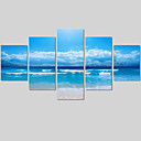 cheap Wall Stickers-Canvas Print Landscape Modern Five Panels Horizontal Wall Decor Home Decoration