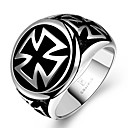 cheap Men's Rings-Men's Statement Ring - Stainless Steel Cross Unique Design, Fashion 8 / 9 / 10 For Christmas Gifts