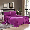 cheap Pillowcases-Solid 4 Piece Polyester Piece Dyed Polyester 2pcs Shams 1pc Flat Sheet 1pc Fitted Sheet (If Twin size, only 1 Sham or Pillowcase)