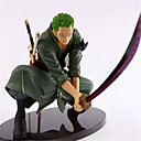 cheap Anime Cosplay Swords-Anime Action Figures Inspired by One Piece Roronoa Zoro Engineering Plastics 18 cm CM Model Toys Doll Toy Men's Boys' Girls'