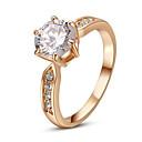 baratos Outros Pincéis-Mulheres Cristal Anel de declaração - Imitações de Diamante, Liga Clássico, Fashion Tamanho Único Prata / Dourado Para Casamento / Festa