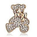 cheap Necklaces-Women's Brooches - Rhinestone, Silver Plated, Gold Plated Bear, Animal, Bowknot Fashion Brooch Gold / Silver For Wedding / Party / Casual