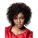 preiswerte Haarteil-Synthetische Perücken Locken / Afro Synthetische Haare Braun Perücke Damen Kurz