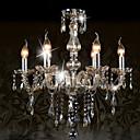 billiga Plafonder-Ecolight™ 6-Light Ljuskronor Glödande Krom Glas Kristall 110-120V / 220-240V Glödlampa inte inkluderad / E12 / E14