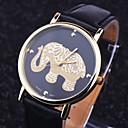 baratos Relógios da Moda-Mulheres Relógio de Pulso PU Banda Amuleto / Fashion Preta / Branco / Marrom / Aço Inoxidável