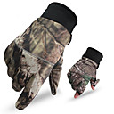 cheap Hunting Bags-Men's Camo Hunting Gloves Thermal / Warm Anti-Wear Nylon for Camping / Hiking Hunting Climbing / Winter