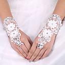 preiswerte Handschuhe für die Party-Elastischer Satin / Seide Handgelenk-Länge Handschuh Brauthandschuhe Mit Schleife