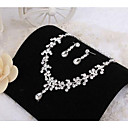 cheap Party Headpieces-Women's Jewelry Set Rhinestone Ladies Include Necklace / Earrings For Wedding Party Daily Casual