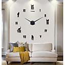 رخيصةأون اصنع بنفسك ساعة الحائط-كاجوال الحديثة / المعاصرة مكتب/الأعمال ستايروفوم معدن دائري في الأماكن المغلقة /في الهواء الطلق,AA ساعة الحائط