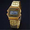Недорогие Временные татуировки-Муж. Нарядные часы Часы-браслет Наручные часы Цифровой Нержавеющая сталь Серебристый металл / Золотистый Повседневные часы Цифровой Кулоны - Серебряный Золотой