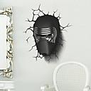 preiswerte Kostümperücke-3D Retro Wand-Sticker Menschen Wandaufkleber Dekorative Wand Sticker, Vinyl Haus Dekoration Wandtattoo Wand