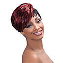 cheap Dog Clothes-Synthetic Wig Straight Synthetic Hair Red Wig Women's Short Capless