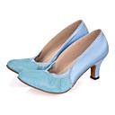 baratos Perucas Sintéticas-Mulheres Sapatos de Dança Moderna Glitter / Cetim Sandália / Salto / Têni Gliter com Brilho / Franzido Salto Carretel Personalizável Sapatos de Dança Rosa / Púrpura / Azul Claro / Espetáculo
